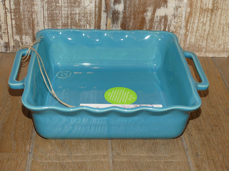 Ovenschaal Vierkant Blauw (L)